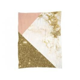 Pink and Gold Marble Collage-Fleecedecke